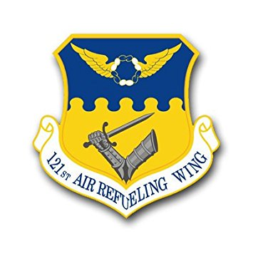 MAGNET US Air Force 121st Air Refueling Wing Decal Magnetic Sticker -