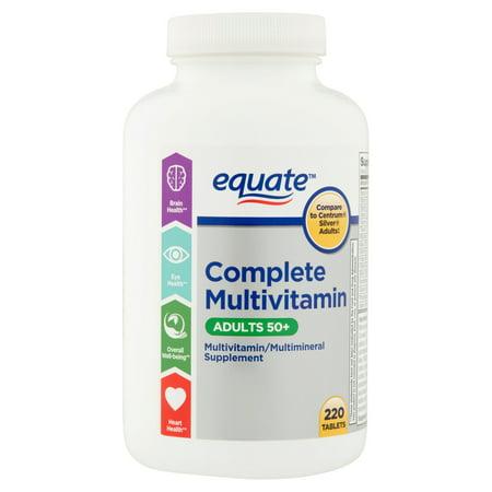 equate Mature multivitamines A Thru Z adultes de comprimés alimentaires Supplément - 220 Ct