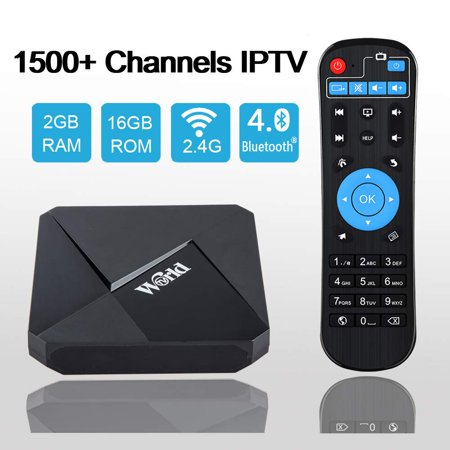 International IPTV Receiver Box with Life-time Subscription for 1500+ Global Live Channels 2GB 16GB IPTV Include North American European Asian Arabic India