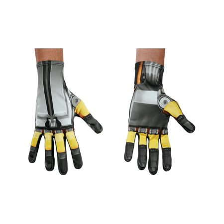 Mens Transformers The Last Knight Bumblebee Gloves Costume - Bumblebee Gloves