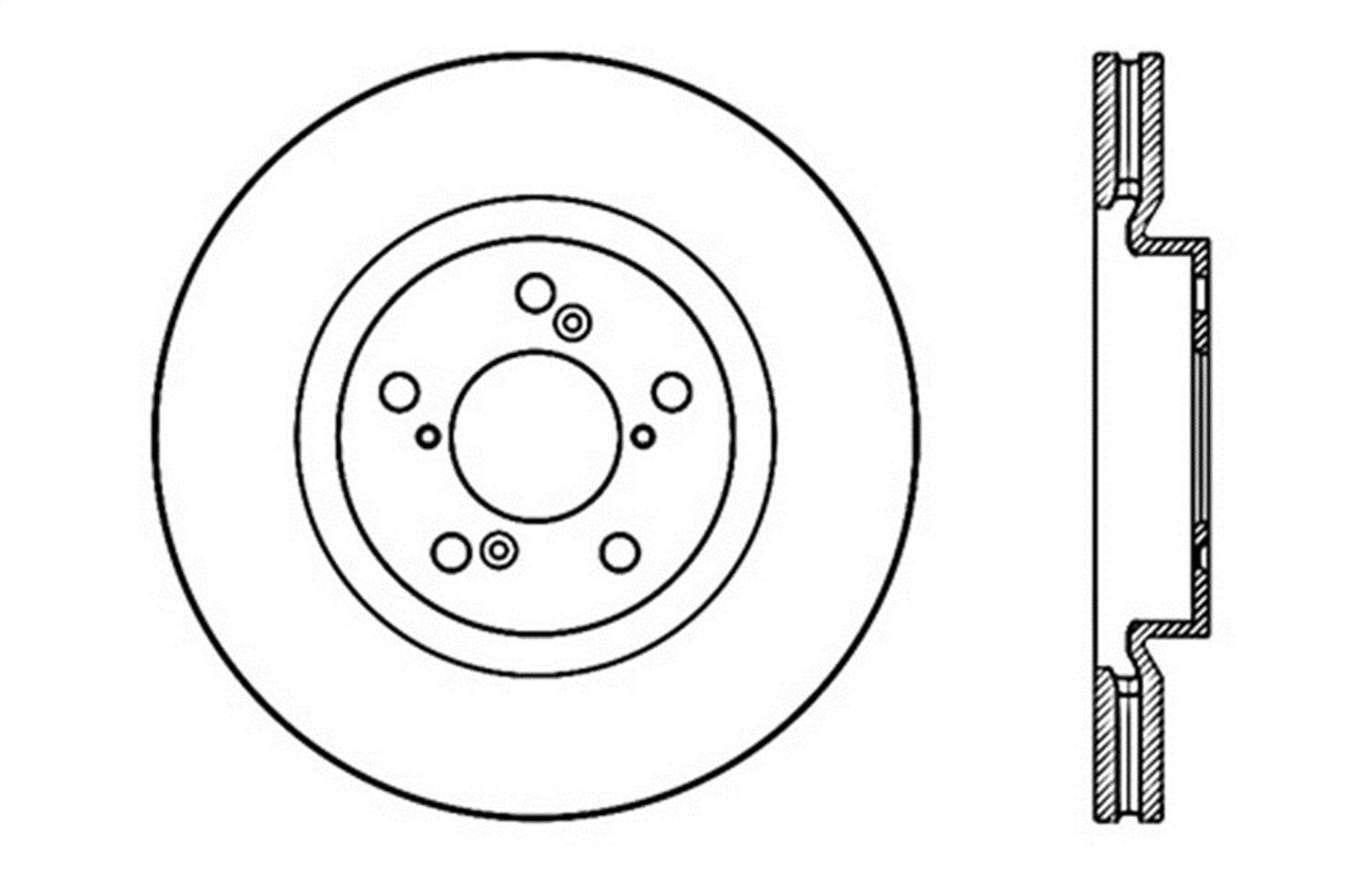 StopTech 128.33059R Sport Cross Drilled Brake Rotor 1 Pack Front Right