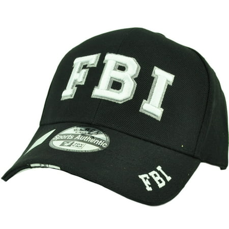 FBI Law Enforcement Federal Bureau Investigation Hat Cap Black Adjustable Acrylic - Law Enforcement Party Supplies