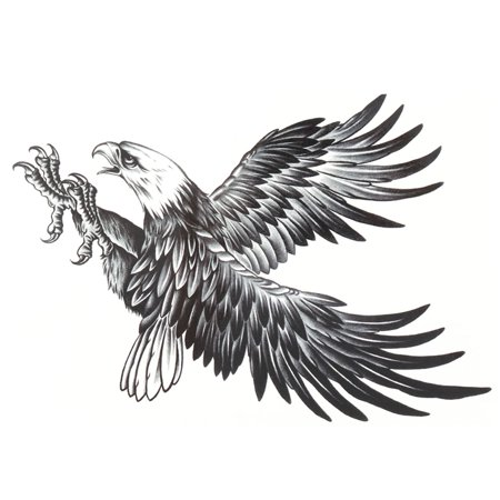 Eagle Wings Tattoos (Man Eagle Pattern Removable Body Art Decor Paper Sticker Decal Temporary Tattoo)