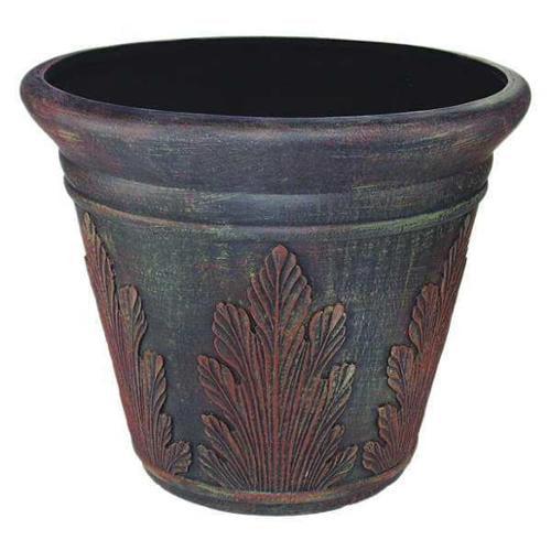 Fiberglass Pot, Dark Brown ,Nudell, T4081