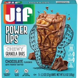 Jif Power Ups Chocolate with Peanut Butter Chewy Granola Bars, 6.5-Ounce, 5 Count