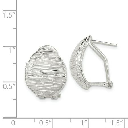 925 Sterling Silver Omega Back Earrings Drop Dangle Fine Jewelry For Women Gifts For Her - image 2 de 6
