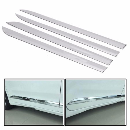 4Pcs Car Door ABS Chrome Body Side Moulding Trim Cover For Toyota Sienna 2011-16