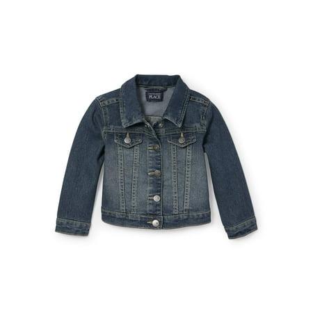 The Children's Place Baby & Toddler Girl Denim Jacket (Blue Jeans Jacket Girls)