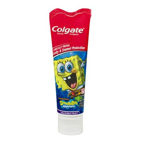 Colgate Spongebob Squarepants Dentifrice doux fruits Fluoride Bubble, 4.6 OZ
