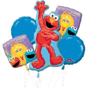 Sesame Street 1st Birthday Mylar Balloon Bouquet (each) - Party Supplies