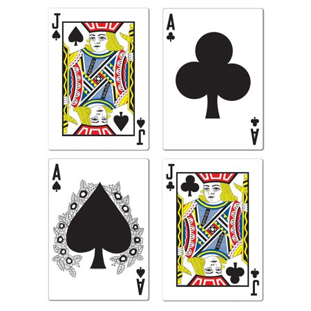 Club Pack of 48 Casino Night Themed Blackjack Cutout Party Decorations 25