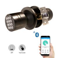 Electric Keyless Smart Lock with Key Pad Backup Security Black