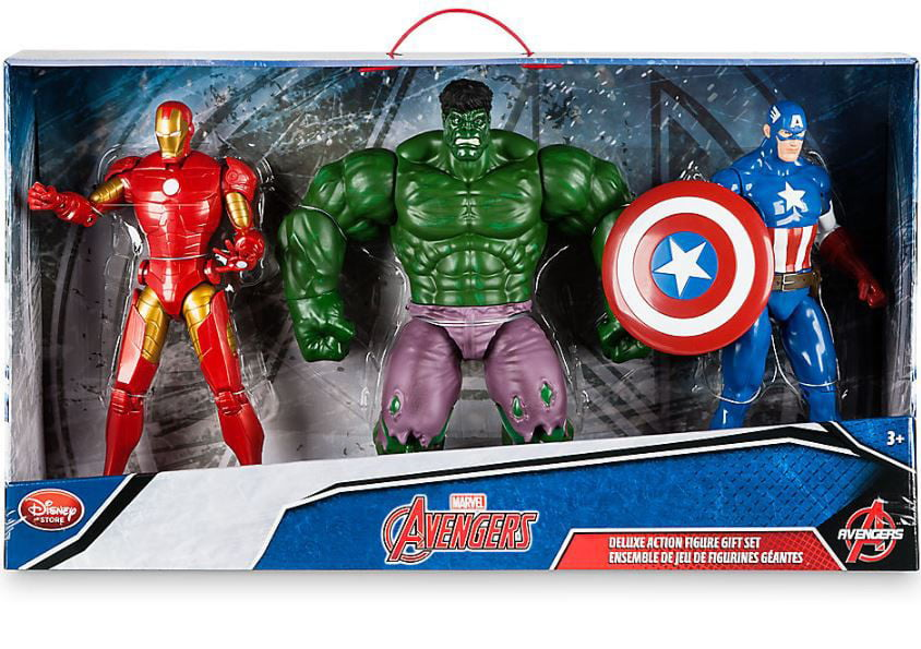 Marvel Avengers Iron Man, Hulk & Captain America Action Figure 3-Pack by