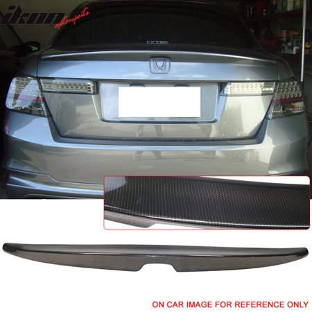Fits 08-12 Honda Accord 8th Sedan OE CF Trunk Spoiler Carbon Fiber Look ABS