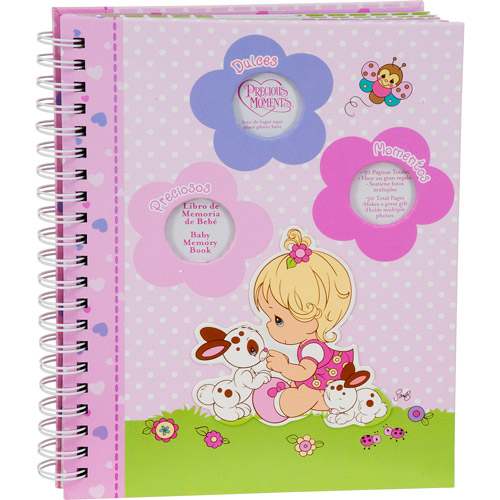 Precious Moments - Baby Memory Book in Spanish, Pink