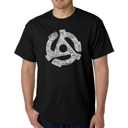 Los Angeles Pop Art Men's T-shirt - Record Adapter