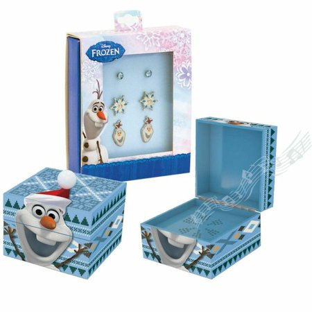 Mr. Christmas Disney 11886 Frozen Olaf Earrings and Music Box for $<!---->