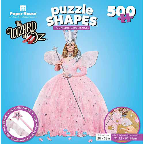 "Jigsaw Shaped Puzzle, 500 pc, Wizard of Oz Glinda, 24"" x 31"""