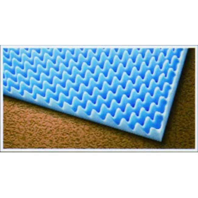 "Complete Medical Supplies 1814 2"" x 33"" x 72"" Eggcrate Bed Pad"