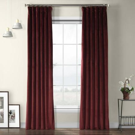 Exclusive Fabrics  Heritage Plush Velvet Single Curtain (Heritage Panel)