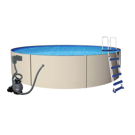 Blue Wave Rugged Steel Round Metal Wall Swimming Pool (Complete Round Pool Package)