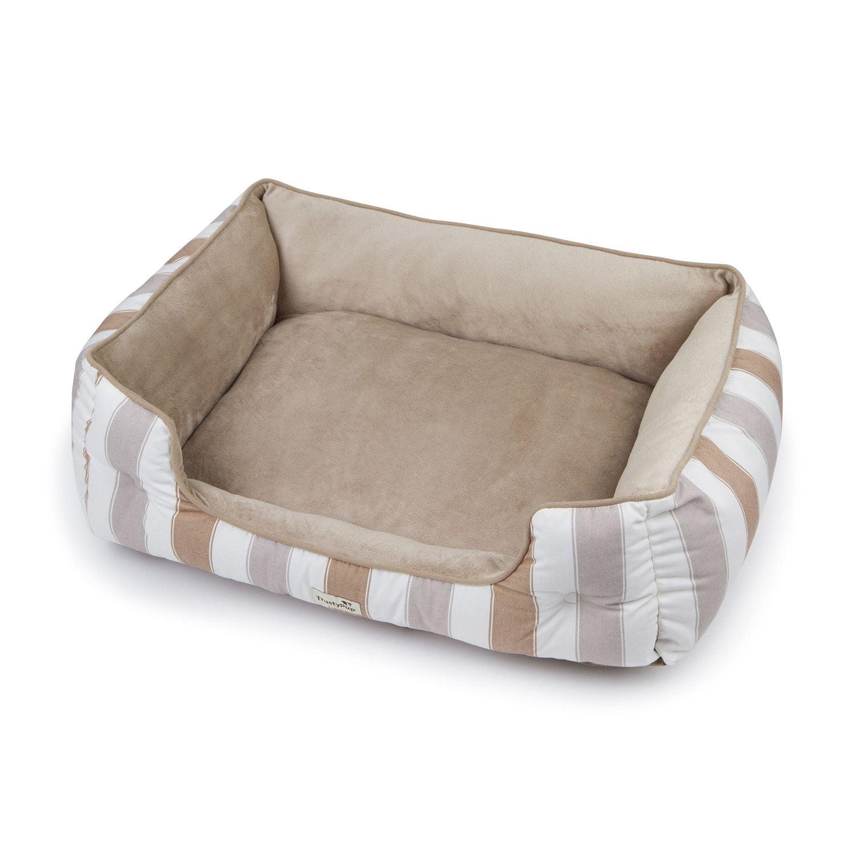 "trusty pup thermadreams pet bed, 39"" x 26"" x 9"" (beige w/ grey"