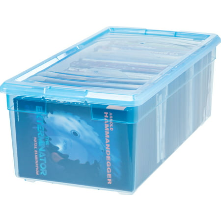 IRIS Media Storage Box, Blue - Blue Storage Box