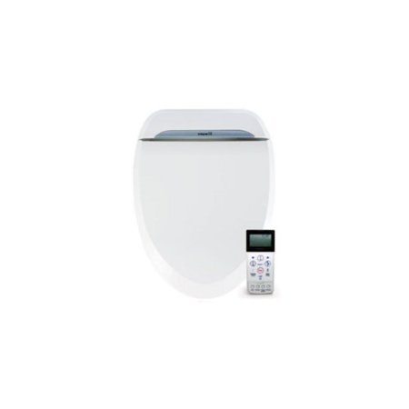 Remarkable Biobidet Uspa 6800 Adjustable Bidet Toilet Seat With Wireless Remote Dual Nozzle Side Panel Function And Dryer White Round Pabps2019 Chair Design Images Pabps2019Com