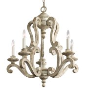 "Kichler 43256 Hayman Bay 5 Light 28"" Chandelier - Off White"