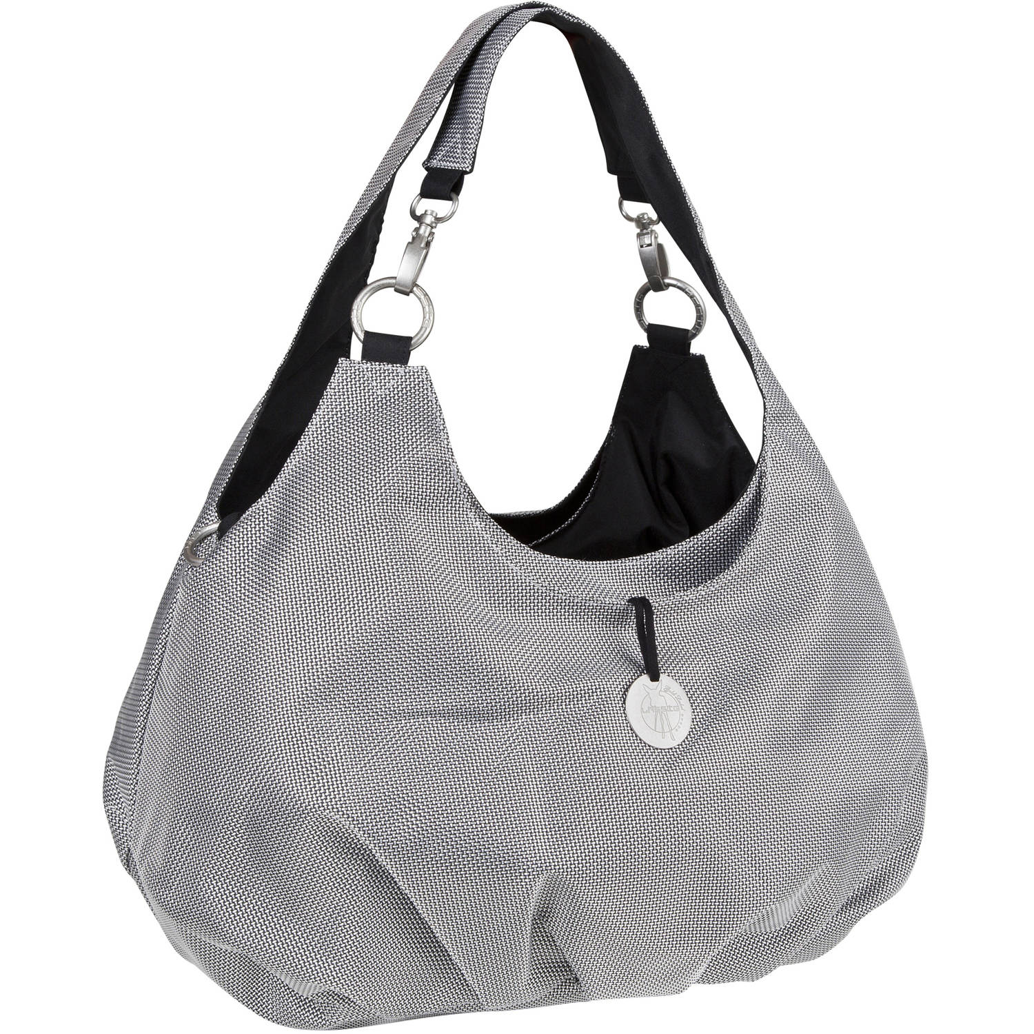 Lassig Gold Label Shoulder Diaper Bag, Metallic Silver