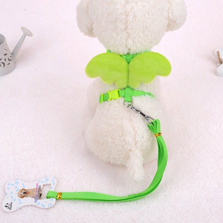 Cute Angel Wing Pet Dog Leashes Collars Adjustable Dog Harness Pet Supplies - image 1 of 4