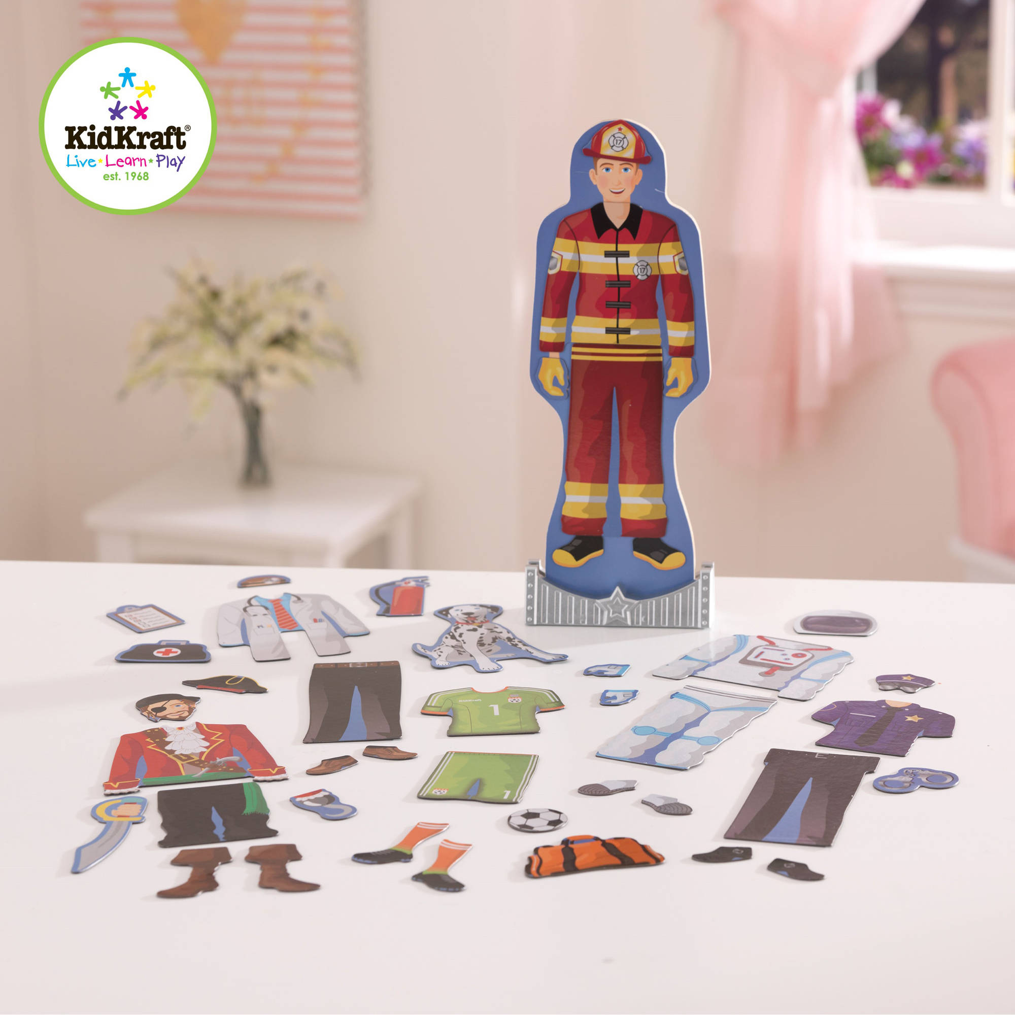 KidKraft Magnetic Dress Up Doll, Brady
