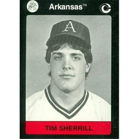 Tim Sherrill Baseball Card (Arkansas) 1991 Collegiate Collection - Autographed Baseball Magazines
