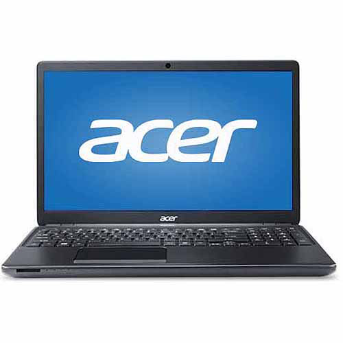 "Acer Black 15.6"" TravelMate P4 Laptop PC with Intel Core i7-4500U Dual-Core Processor, 8GB Memory, 128GB SSD and Windows 7 Professional"