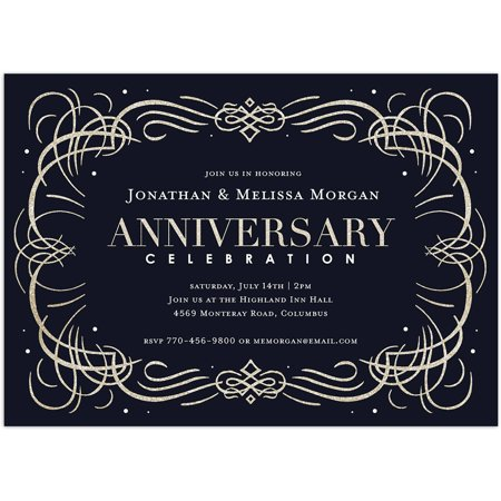 Anniversary Celebration Party Anniversary Invitation (Black And White Party Invitations)