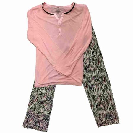 924a3ad9e4b5 Liz Claiborne - Liz Claiborne Womens Pink   Gray Snake Print Pajamas ...