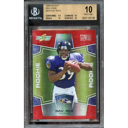 2008 Select Red Zone  374 Ray Rice Rookie Bgs 10 Pristine  Pop 1