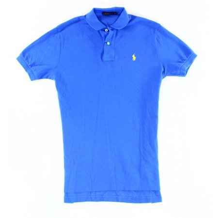 Polo Ralph Lauren New Blue Mens Small S Short Sleeve Polo Rugby Shirt