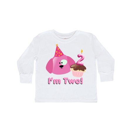 2nd Birthday Puppy Pink Toddler Long Sleeve T-Shirt - Puffy Skirts For Kids