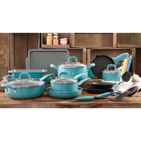 The Pioneer Woman Vintage Speckle 20 Piece Cookware Combo