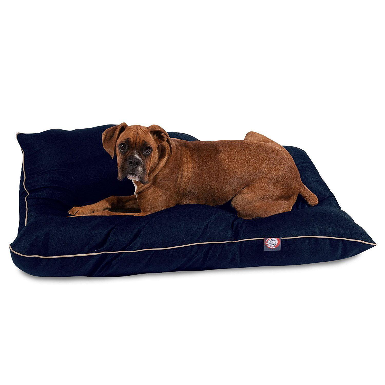 Majestic Pet Super Value Machine Washable Pet Dog Bed, Large, Blue