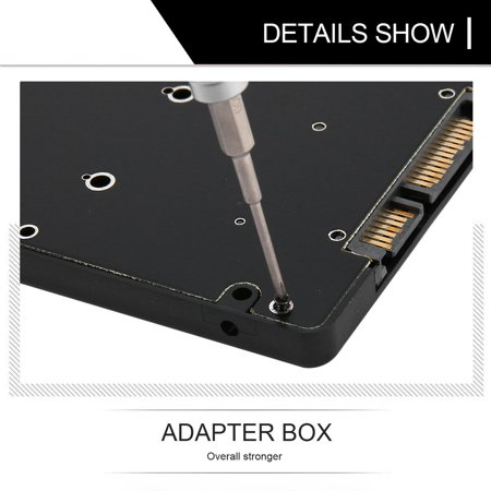 Portable Mini HDD Efficient And Fast Mini 2.5 Inch MSATA SSD to 22 Pin SATA SSD Adapter Box External HDD Mobile Box - image 4 of 8