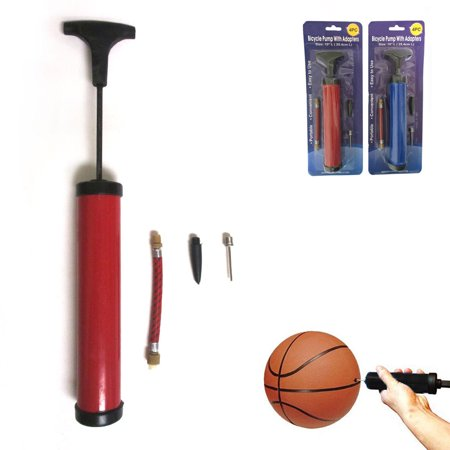 1 Ball Pump Kit Handheld Inflator Sports Balls Air Needle Basketball Soccer
