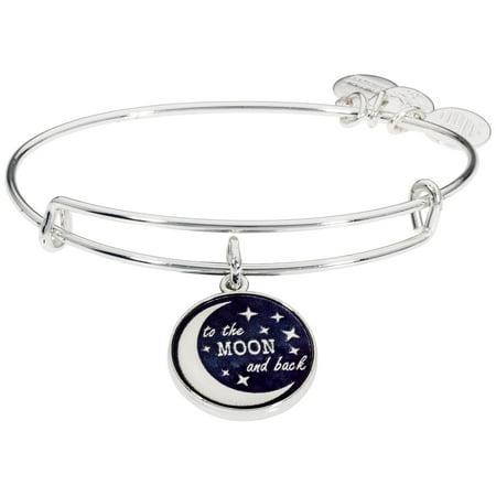 Alex And Ani Stellar Love Charm Two Tone One Size Bracelet A16EB154SS ()