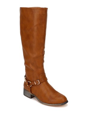 519370f83ba Product Image Nature Breeze Olympia-10 New Women Gold Plating Knee High  Round Toe Riding Boot