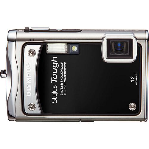 """Olympus Stylus Tough 8000 Black 12 MP Digital Camera, 3.6x Optical Zoom 2.7"""" Hypercrystal III LCD Display, Shockproof (6.6'), Waterproof (33')"""