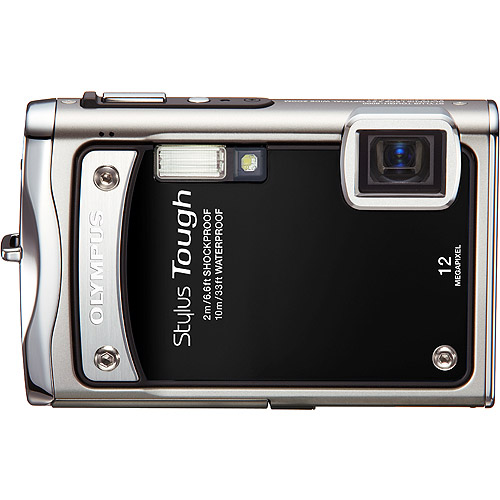 "Olympus Stylus Tough 8000 Black 12 MP Digital Camera, 3.6x Optical Zoom 2.7"" Hypercrystal III LCD Display, Shockproof (6.6'), Waterproof (33')"