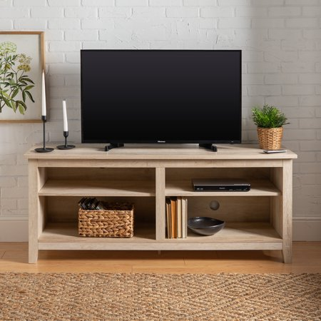 "Manor Park Wood TV Media Storage Stand for TV's up to 64"" - White Oak"