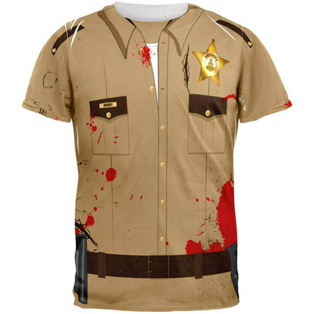 Halloween Zombie Grime Sheriff Walker Costume All Over Adult - Carl Grimes Costume