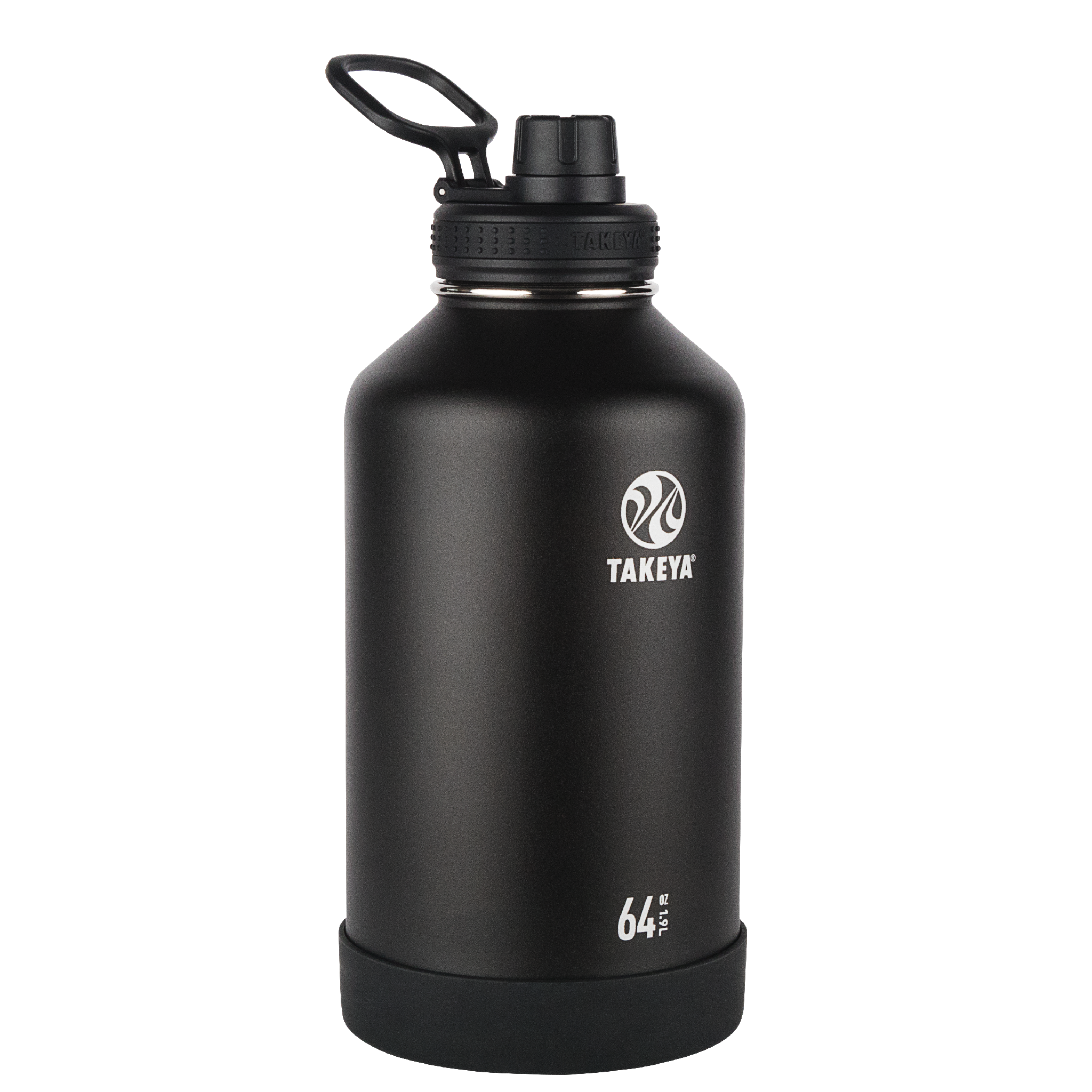 Takeya Actives Stainless Steel Water Bottle w/Spout lid, 64oz Onyx